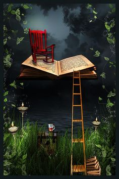 A darling bookish illustration I Love Books, Books To Read, My Books, Buch Design, Come Fly With Me, Reading Art, World Of Books, Book Nooks, Conte