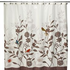"Daintree 72"" x 72"" Fabric Shower Curtain - Bed Bath & Beyond"