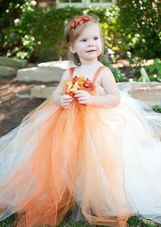 Orange and white hydrangea tutu dress toddler tutu dress flower orange flower girl tutu dressflower girls by bellabeancouture i changed my mind orange tutu dress it is mightylinksfo
