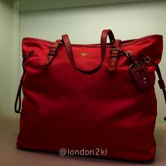 We are heading to Bicester Village on Tuesday 31st January 2017. Prada BR4997 in Red RM2,645 ❤❤it?  WhatsApp me on +44 7535 715 239 for orders now.  Once it's gone, it's gone!  See even more #L2KLbv #L2KLbv #L2KLbv