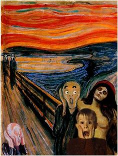 The Scream Edvard Munch Parody