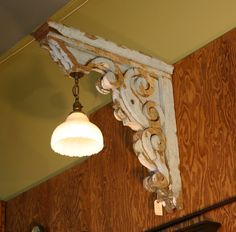 Scrolled Wood Light Fixture Concept #woodworkingideas