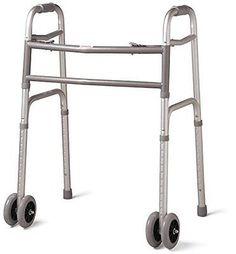 Heavy Duty Bariatric Extra Wide Folding Walker with Wheels, 5 Inch by LF MEDICAL
