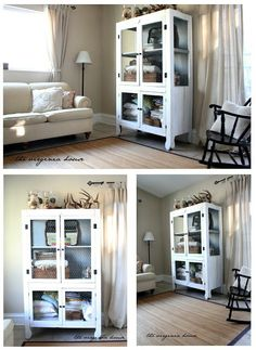 The Virginia House: Hutch Redo - Before & After ♥♥ Hutch Redo, Hutch Makeover, Makeover Before And After, Virginia Homes, Corner Table, Find Furniture, Handmade Furniture, Furniture Inspiration, China Cabinet