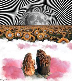 """Collage de ilustraciones dándole vida psicodelica creando un propio estilo """"Trippy Love"""". Photoshop, Trippy, Instagram, Love, Illustrations, Life, Style, Amor, Psychedelic"""