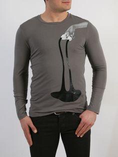 Paco & Co - Μπλούζα με τύπωμα εμπρός. Mens Fashion, Long Sleeve, Sleeves, Mens Tops, T Shirt, Style, Moda Masculina, Supreme T Shirt, Swag