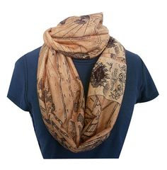 Marauders Map Infinity Scarf Harry Potter Scarf Geek por RoobyLane, £20.00