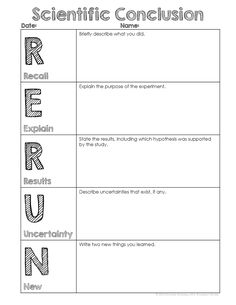 Classroom Freebies Too: RERUN Conclusion Writing Template