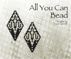 Peyote Earrings Pattern 131 Bead Weaving INSTANT DOWNLOAD PDF