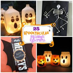 25 Spooktacular Halloween Kids Crafts|Spoonful  I would want to do the milk carton thing for decor. That would be fun :D