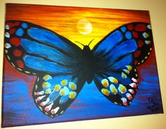 Butterfly Paintings On Canvas | Dustin Rich Painting
