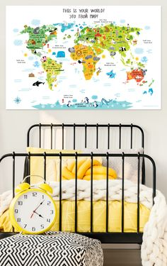 world map for kids - russian for kids, russian world map, playroom decor, russian language for kids, pictureta.com