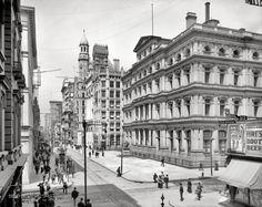 Chestnut Street and the Post Office, Philadelphia (1904)