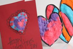 Puffy Paint Valentines - Valentines crafts for kids - happy hooligans