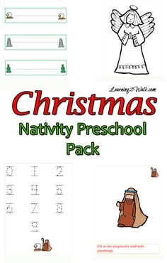 Christmas activities for preschoolers- printable pack