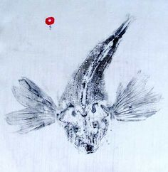 Maine artist Annie Sessler makes printed images using actual fish!