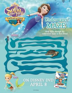 Sofia the First Printable Maze