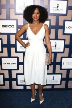 Tracee Ellis Ross attends the annual ESSENCE Black Women In Hollywood luncheon at the Beverly Wilshire Four Seasons Hotel on February 2015 in Beverly Hills, California White Fashion, Love Fashion, Tracey Ellis, Robes D'oscar, Tracee Ellis Ross, Oscar Dresses, Love Her Style, Celebs, Celebrities