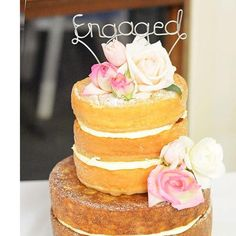 $30 Engaged Cake topper by bridalbling on Handmade Australia