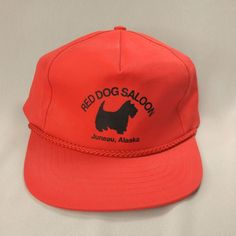 Vintage Red Dog Saloon Baseball Cap Snapback Hat Juneau Alaska Black Scottie Dog #Headliners #Cap #Casual