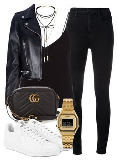 """Sem título #2385"" by mariandradde ❤ liked on Polyvore featuring J Brand, T By Alexander Wang, Miss Selfridge, ZoÃ« Chicco, Yves Saint Laurent, Gucci, Raf Simons and Casio"