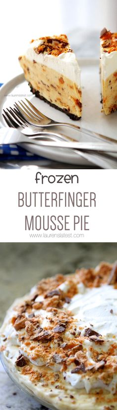 Frozen Butterfinger Mousse Pie