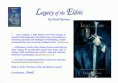 Brilliant reviews for Legacy of the Eldric, Book 1 of the Prophecy of the Kings --  a fantasy trilogy