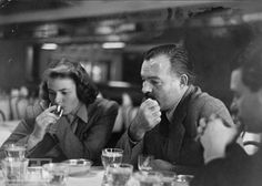 Ingrid Bergman and Ernest Hemingway.  http://www.vintag.es/2011/07/photos-of-ernest-hemingway-partying.html