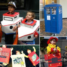 DIY Cardboard Box Halloween Costumes