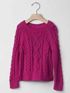 Cable raglan sweater Product Image