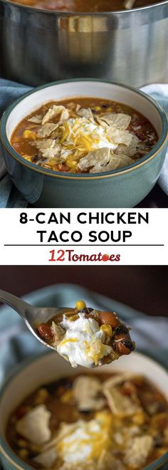 Chicken Soup Chicken Soup Related posts: Chicken Taco Soup Attack of the Hungry Monster: Crockpot Chicken Taco Soup This Instant Pot Chicken Taco Soup recipe is your favorite slow cooker chicken t… Easy Slow Cooker Chicken Taco Soup Chicken Taco Soup, Canned Chicken, Chicken Tacos, 8 Can Taco Soup, Chicken Meals, Healthy Chicken, Chicken Recipes, Crockpot Recipes, Soup Recipes