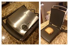 Another great gadget that I love. The Breville Panini press. Great for deli-like sandwiches that heats and toast up quickly. Non-stick surface can be used for simple indoor grilling as well. Sturdy and durable machine.