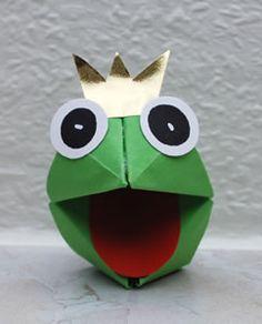Froschkönig basteln Mehr crafts for kids for teens to make ideas crafts crafts Kids Crafts, Crafts For Teens To Make, Diy For Teens, Diy For Kids, Diy And Crafts, Arts And Crafts, Diy Origami, Origami Tutorial, Diy Paper