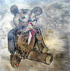 Lance Carlson, Artist...Teddy...from the Toyland Series available at dk gallery, Marietta, GA  www.dkgallery.us...