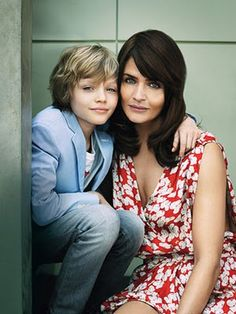 Helena Christensen and son Mingus Reedus