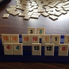 Rummikub! Who's up for a game? I played this with my grandma and then with my kids. Great memories!