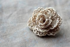 so pretty - rose from crocheted trim