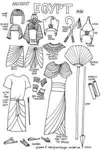 Royal Ancient Egyptian Paper Dolls