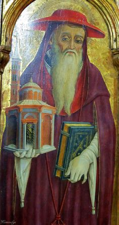 Vittore Crivelli - San Girolamo, dettaglio (pannello pentittico) - Capodarco di Fermo, chiesa di Santa Maria