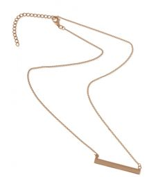 The perfect, personalized bar necklace! In rose gold, white gold, yellow gold and sterling silver!