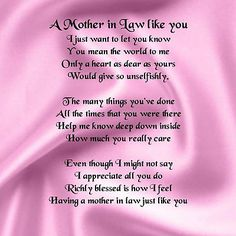To My Mother In Law Who Is Now In Heaven May You Rest In Peace And