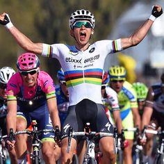pedalitout:  The rainbow man won the golden race. Congrats @michalkwiatek winner of the #AmstelGoldRace 2015. #SpringClassics : @tdwsport by oakleybike http://ift.tt/1OuzWDF