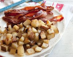 Oven-Baked Bacon and Potatoes ~ http://www.southernplate.com