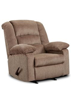 Complete your living space with the Jesse Cocoa Recliner by Franklin. Framed with a casual design, this recliner boasts plush pillow arms and thick, encasing back cushions that allow you to completely relax. If your favorite way to decompress is to put your feet up in a comfortable recliner, the Jesse is sure to satisfy. Visit us in-store to experience our cozy collection of recliners for yourself at Great American Home Store in Memphis, TN, and Southaven, MS. #recliner #home