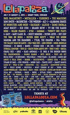 Los 10 mejores festivales de música para el verano Lollapalooza