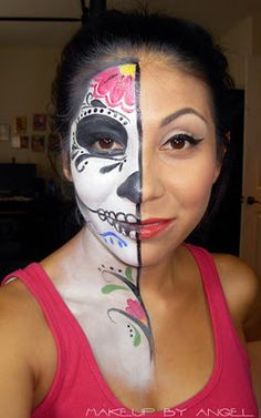 Makeup by Angel: Halloween Sugar Skull Woman