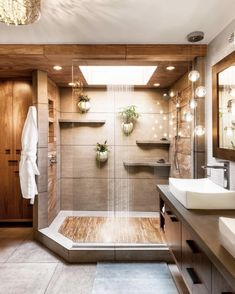 Teak floors in a walk in shower 2019 Dream shower! Teak floors in a walk in shower The post Dream shower! Teak floors in a walk in shower 2019 appeared first on Shower Diy. Modern Bathroom Design, Bathroom Interior Design, Bathroom Designs, Shower Designs, Modern Interior, Apartment Bathroom Design, White House Interior, Spa Interior, Luxury Kitchen Design