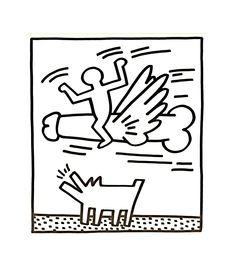 Available for sale from Fiore Brown, Keith Haring, Untitled Pop Art Drawing, Drawing Skills, James Rosenquist, Rage, Keith Haring Art, Pattern Coloring Pages, New York Art, Gay Art, Andy Warhol