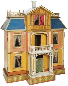 antique dollhouses | antique dollhouse | Inspirational. Nice style, good detail, great colors.  .....Rick Maccione-Dollhouse Builder www.dollhousemansions.com
