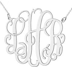 tinytulip.com - Sterling Silver Cut Out Monogram Necklace, $130.00 (http://www.tinytulip.com/sterling-silver-cut-out-monogram-necklace)